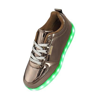 1ffb8745b2666e Shinmax® Weihnachts Neuerscheinung 7 Farben USB-Lade Schuhe Blink Sneakers  für Männer und Frauen