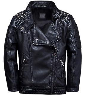 Men Ghost Rider Black Metal Spikes Motorcycle Cowhide Goth Biker Leather Jacket