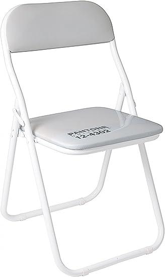Sedie Pieghevoli Pantone Prezzo.Sedia Metallo Pieghevole Pantone 12 4302 Cm 44 H 46 79 White