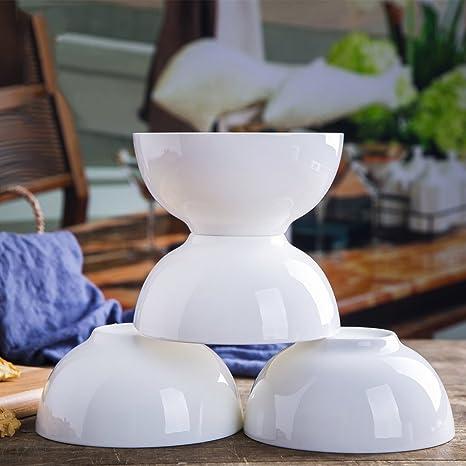 pllp Cuenco de porcelana, cuenco de la casa, cuenco de arroz de cerámica simple