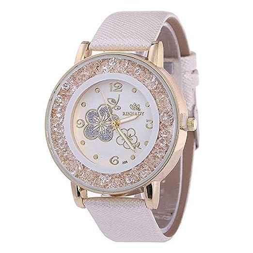 ¡Promoción Relojes de Cuarzo para Mujer, señoras, Chicas Adolescentes, Moda Minimalista, Reloj de Pulsera analógico Casual. (Rosa): Amazon.es: Relojes