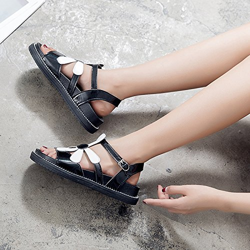 Dama Toe Sandalias Antideslizante Moda Verano Plano 35 35 Shoes EU EU Ocio Toe YMFIE Playa Fondo 4vq0Ytxn4X