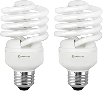 Compact Fluorescent Light Bulb T2 Spiral Cfl 5000k Daylight 23w 100 Watt Equivalent 1520 Lumens E26 Medium Base 120v Ul Listed Pack Of 2 Fluorescent Neon Tubes Amazon Canada