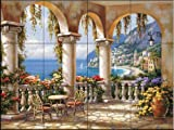 Ceramic Tile Mural - Terrace Arch I - by Sung Kim - Kitchen backsplash / Bathroom shower