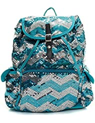 Fashion Chevron Sequin Backpack