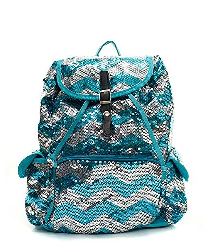 Fashion Chevron Sequin Backpack (Chevron Sequin Backpack)