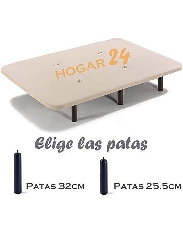 HOGAR24 Base TAPIZADA + 6 Patas DE Metal con Tejido 3D Y VÁLVULAS DE TRANSPIRACIÓN