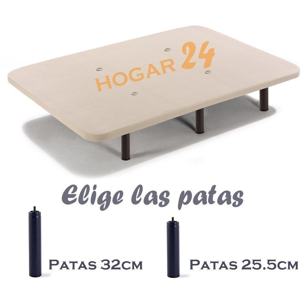 HOGAR24 ES Base Tapizada + 6 Patas de Metal con Tejido 3D y Válvulas de Transpiración-80x200cm-Patas 26cm: Amazon.es: Hogar