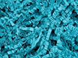 Pack Of 1, Solid Teal Crinkle Cut Paper Shred (Spring-Fill / Zig Fill) 1/8'' wide 8 oz Made In USA