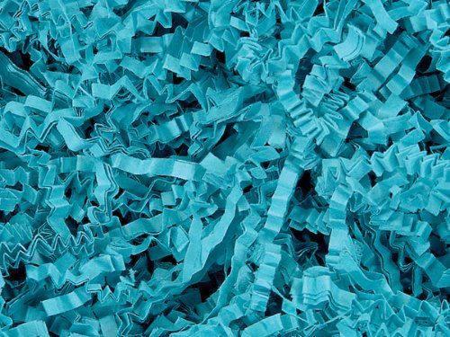Teal Crinkle Cut™ Paper Shred 10 lb Box ~ Spring-fill® Shred - WRAPS-ZF10TE by Miller Supply Inc