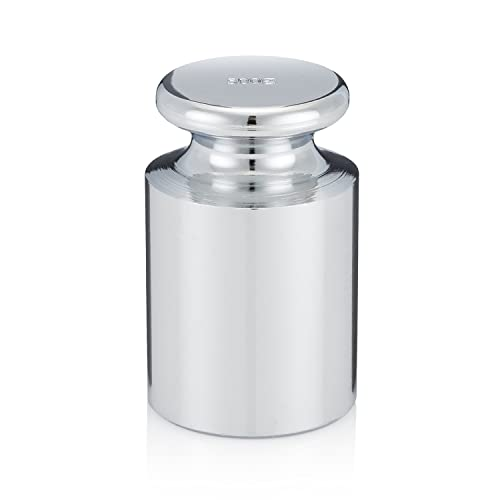 Smart Weigh CW-500G Carbon Steel 500g OIML Class M1: ± 25 mg Calibration Weight with Chrome Finish