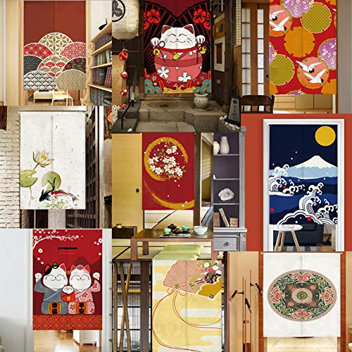 LUNA Sushi Bar Decoration Japanese Style Curtains Door Hallway Hanging Curtains 31.49x47.24 inch (A11)
