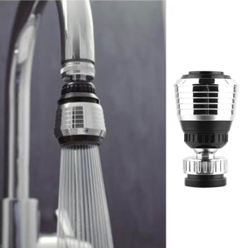 Conquro 360 Giran la Boquilla Grifo Giratorio Filtro de Agua Adaptador Purificador de Agua Ahorro Grifo Aireador Difusor Accesorios de Cocina