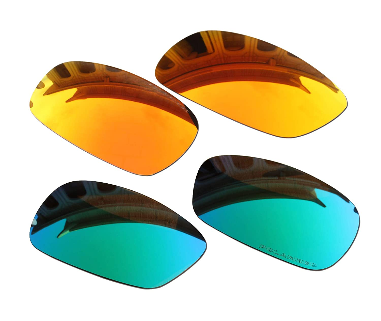 1bd59d5aec Amazon.com   2 Pairs BVANQ Polarized Lenses Replacement Fire Red   Green  for Oakley Crosshair 2.0 (OO4044) Sunglasses   Sports   Outdoors