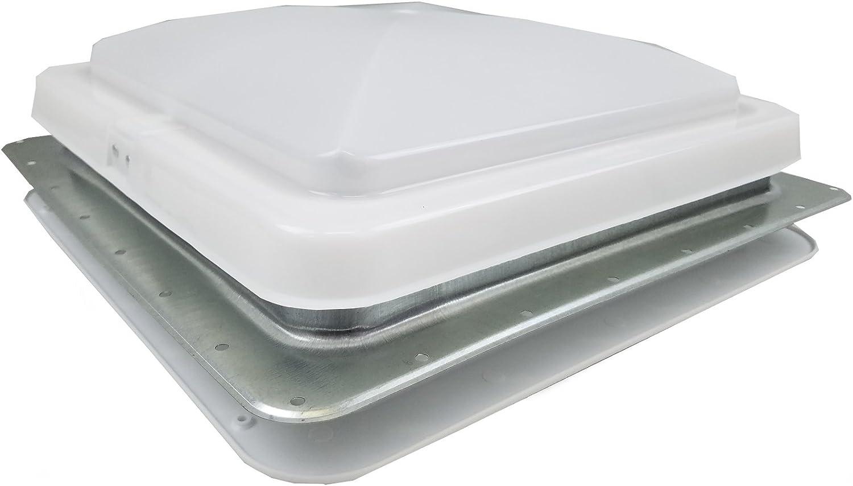Hengs Industries 71112-C1G2 RV Trailer Camper Hardware Replacement Ventline Vent 12 Volt Fan White