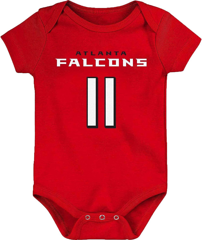 OuterStuff NFL Newborn Infants Team Color Name and Number Mainliner Bodysuit Creeper