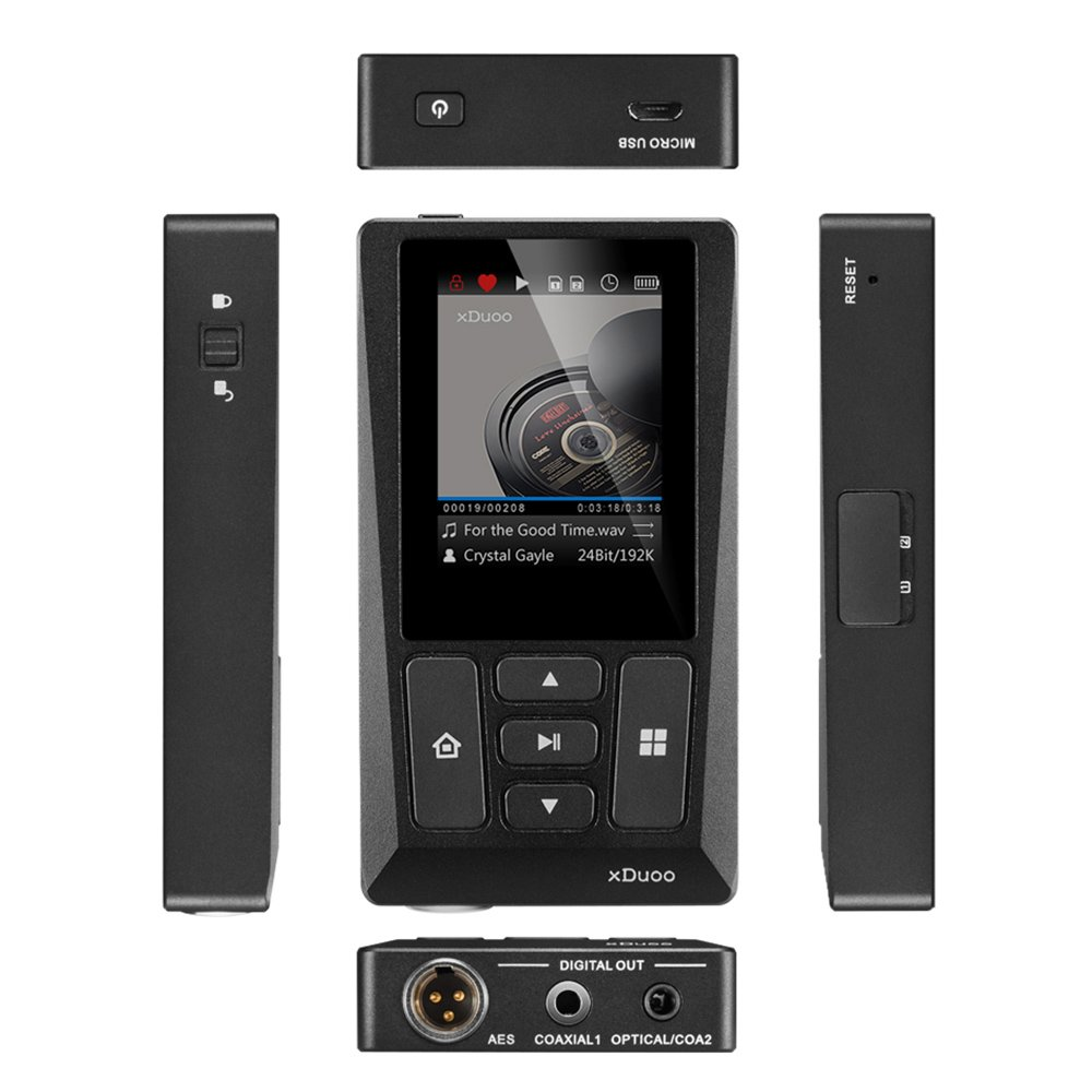 Docooler xDuoo X10T HiFi Music Player Digital Turntable Player High Resolution Lossless Audio Player WM8805 JZ4760B DSD APE FLAC w/ 2 inch Screen by Docooler (Image #4)