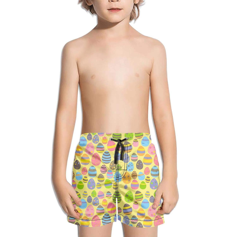 dhaldsa Flowers Black Easter Eggs Flowers Boys Swimming Trunks Shorts Beach Shorts