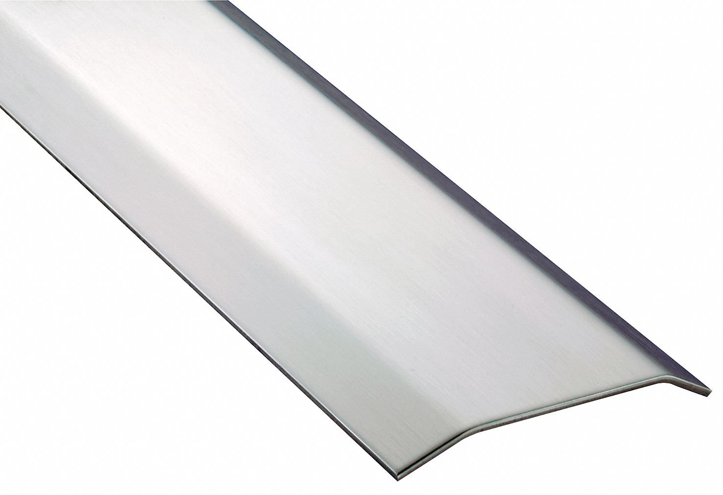 6 ft. x 5'' x 1/2'' Smooth Top Saddle Threshold, Silver