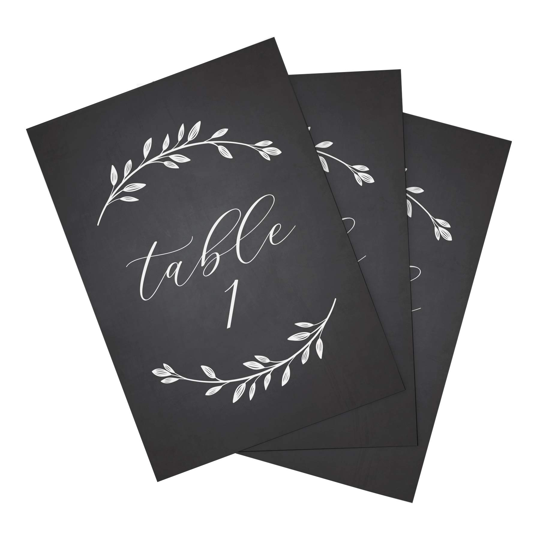 Bliss Paper Boutique Chalkboard Wedding Table Numbers, Double Sided 4x6, Numbers 1-25 & Head Table Card Included — Rustic Wedding Decorations