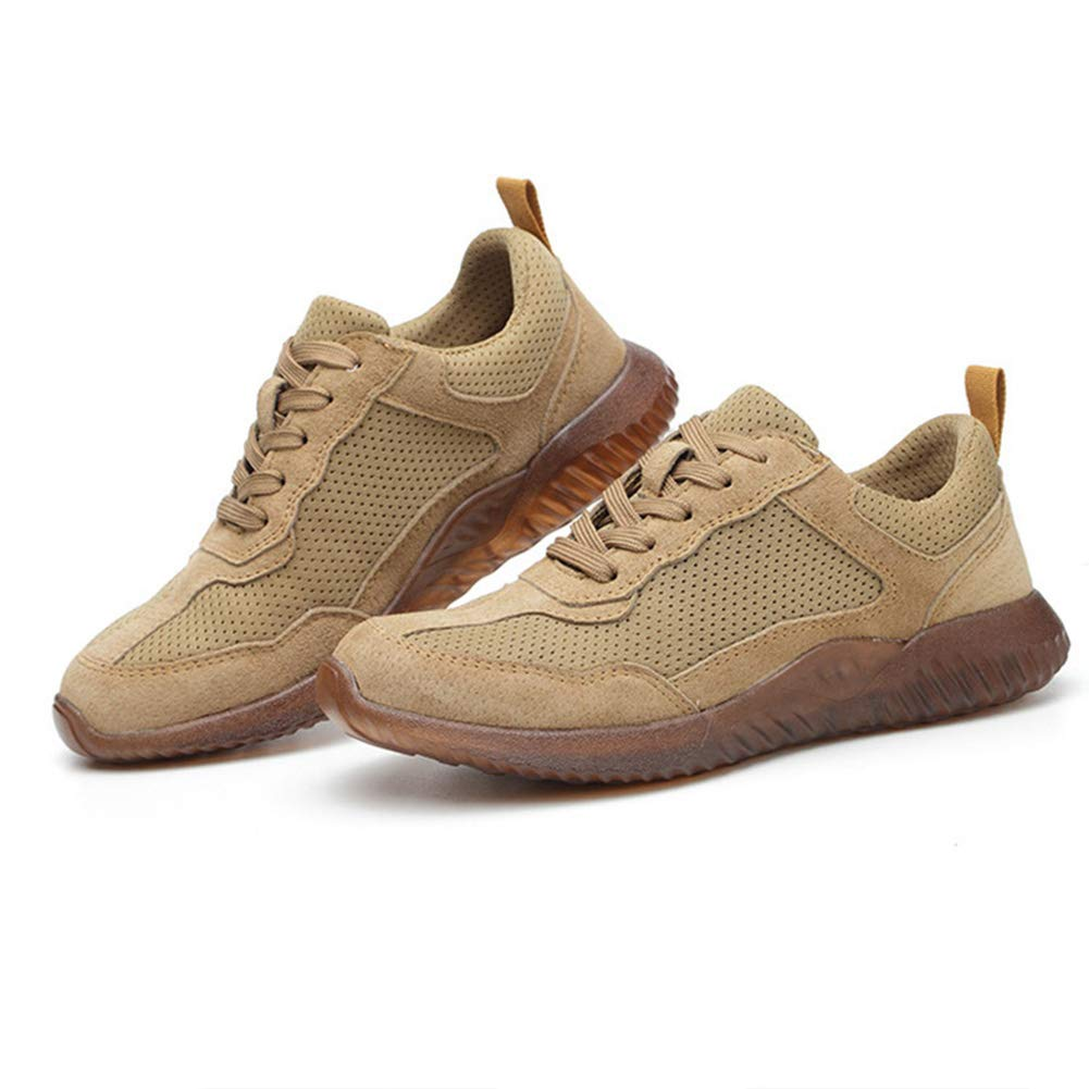 YWILLINK Safety Work Shoes Anti-Piercing Breathable Mesh Anti-Slip Safety Protective Shoes
