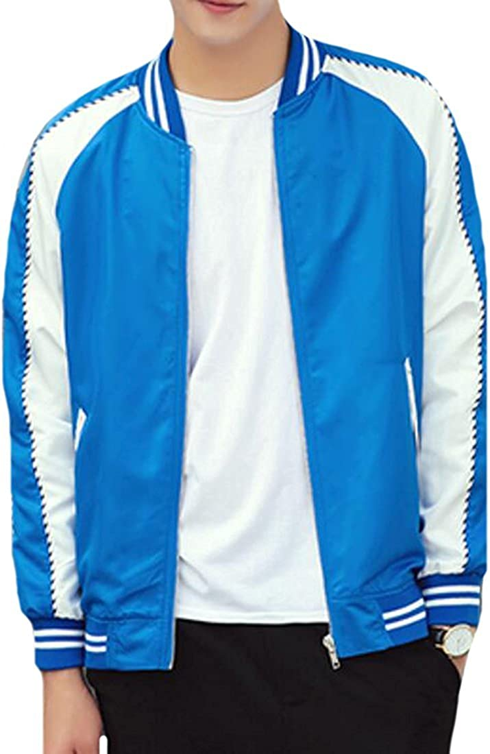Beautifullight Cool,Handsom Mens Classic Basic Style Color Block Slim Bomber Jacket Hot and Fashion