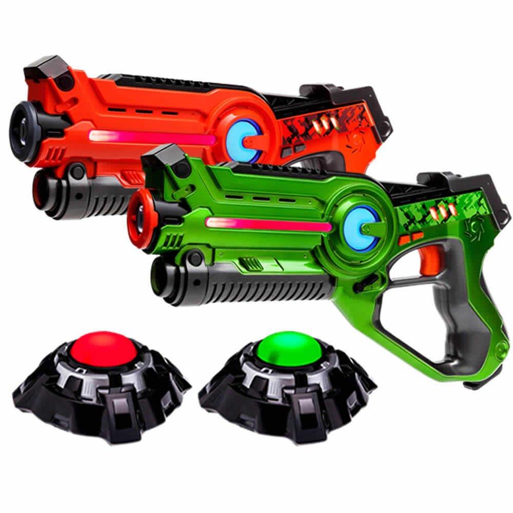Laser Tag set - 2 Light Battle Active Infrarot-Pistole grün/orange plus 2 Ziele - LBAP22212