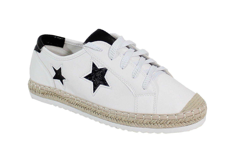 By Shoes - Espadrille Plate Style Fun - Espadrille - - Femme Blanc et Noir 0c51f1f - reprogrammed.space