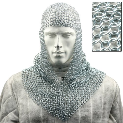 Battle Ready Chain Mail Coif Armor ()