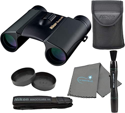 Nikon Trailblazer 8×25 ATB Binoculars, Waterproof 8217 , Black Bundle with a Nikon Lens Pen and Lumintrail Cleaning Cloth
