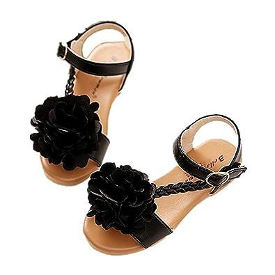 903220b6501 YING LAN Girl s Yoga Sling Burst Strap Flat Flower Sandal (Toddler Little  Kid)