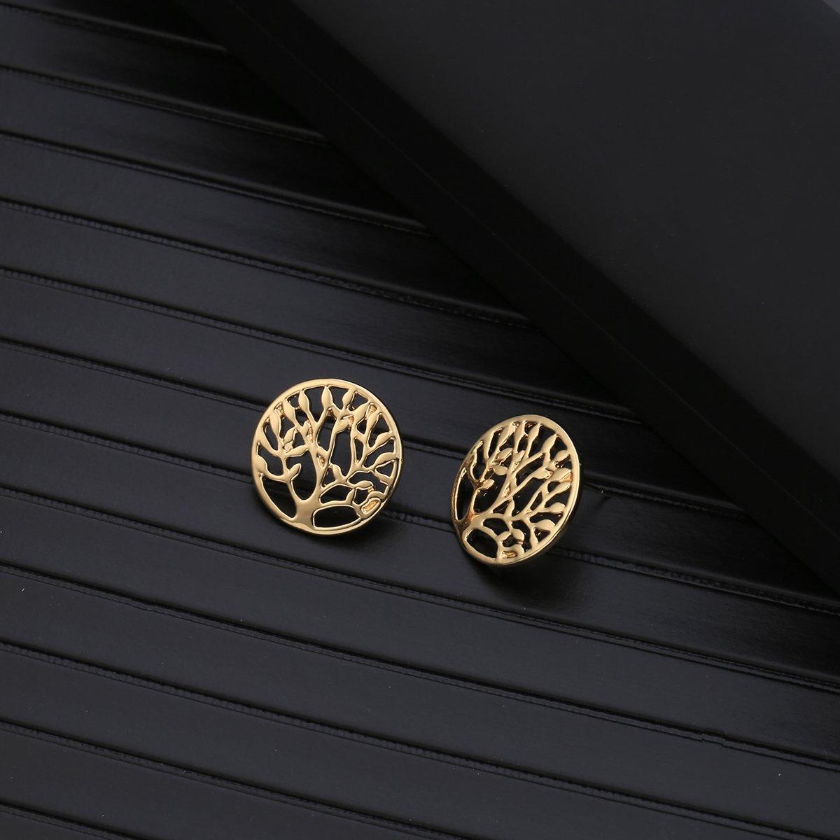 Stud Earring for Women,Tree of Life Earring Stud Girl Silver Dangle Earring Small Stainless Steel Earring