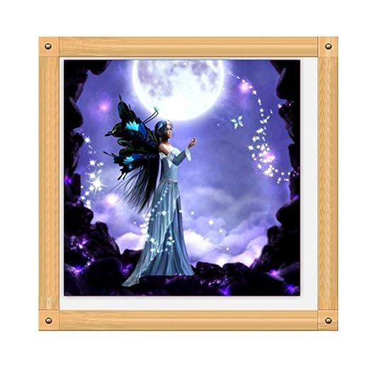 Hermosa ni/ña 5D diamante bricolaje pintura Kit de manualidades decoraci/ón del hogar