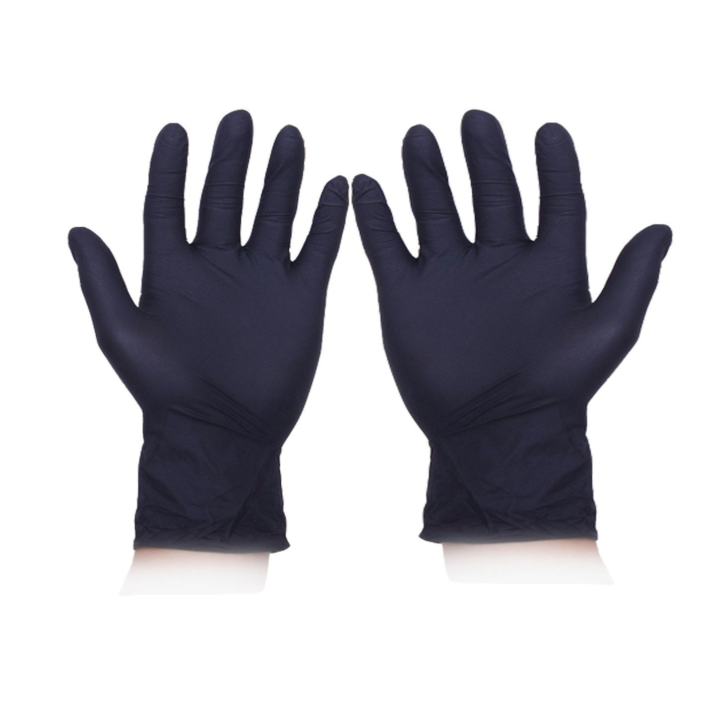 Mishiner 100Pcs Disposable Sterile Nitrile Exam Gloves, anti-static gloves,Powder-Free Suit for home medicine laboratory etc (XL, Black)