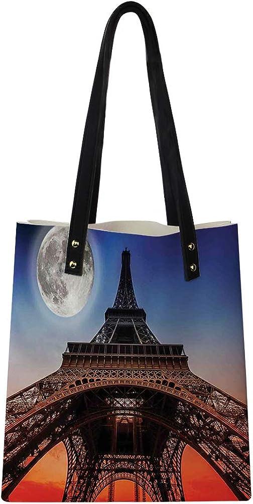 Repetitive Pattern with Overlap Halved Rhombuses Retro Inspired Image,Big Capacity Handbag Hobo bag Womens Soft PU leather Tote Shoulder Bag Satchel Purse