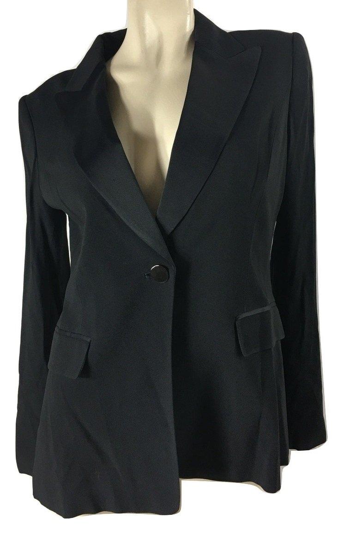 Elie Tahari Women's Franca Notch Lapel Tuxedo Jacket, Black, 10