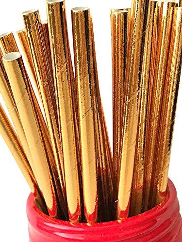 125 ct. Metallic Gold Foil Party Paper Straws Cake Pop (Gold Cake Pop Sticks)