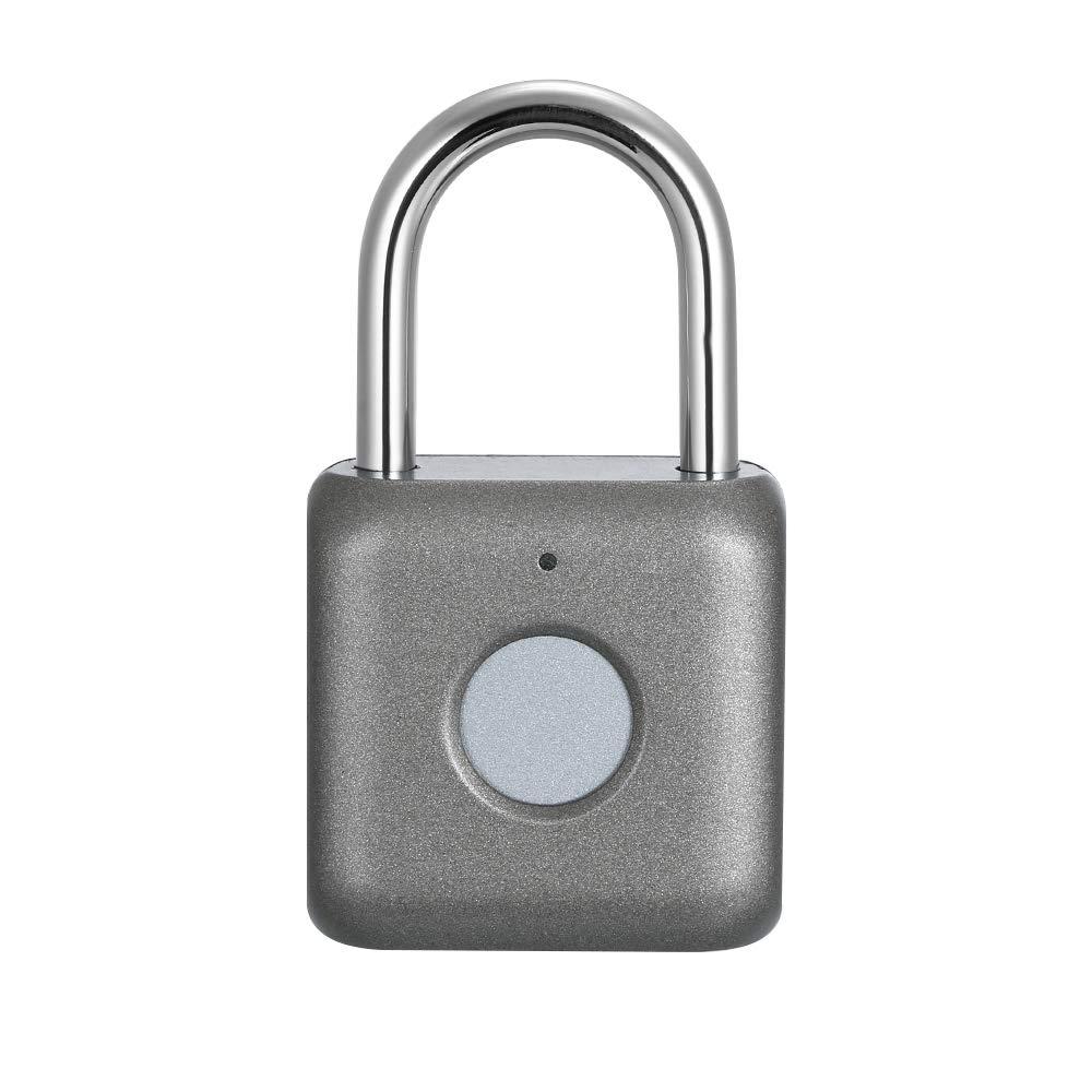 Leepesx Smart Keyless Empreinte Digitale Cadenas Intelligent /Électronique Non-Mot de Passe Finger Touch Lock D/éverrouillage Biom/étrique Imperm/éable pour Voyage Bagages Valises Charge USB
