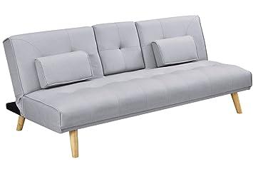 Sleep Design Brooklyn Modern Fabric Fold Down 3 Seater Sofa Bed