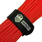 American Paracord Fish and Fire (Neon Orange 25 Feet)550 Type III 9 Strand Survival, Tinder, Fishing, Parachute Cord