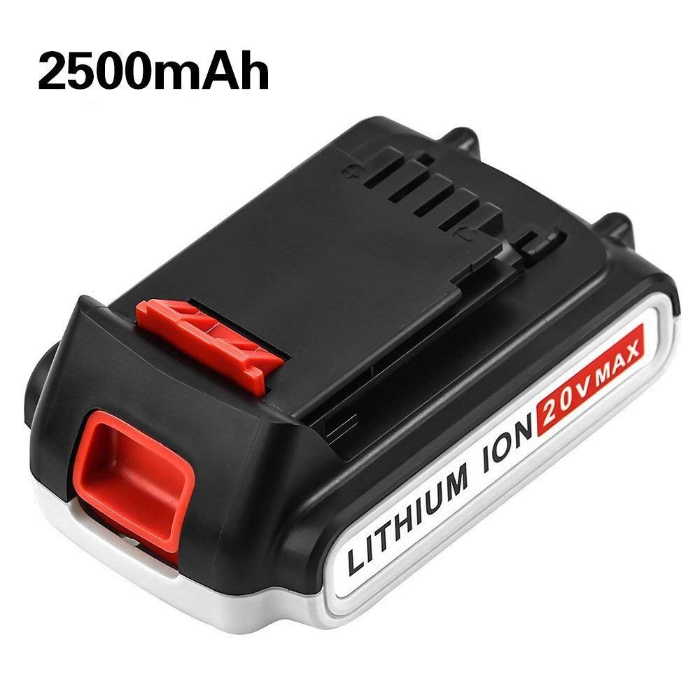 [Upgraded 2500mAh] LBXR20 20 Volt Battery Replace for Black and Decker 20V Battery MAX Lithium LB20 LBX20 LBX4020 LB2X4020-OPE Cordless Power Tools