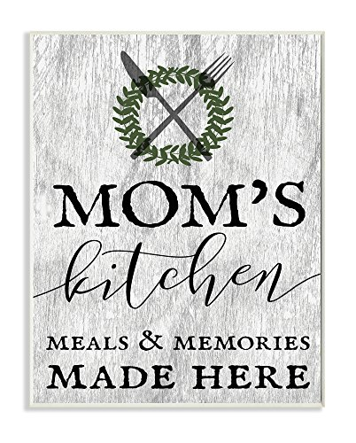 The Stupell Home Decor Collection Mom's Kitchen Meals and Memories