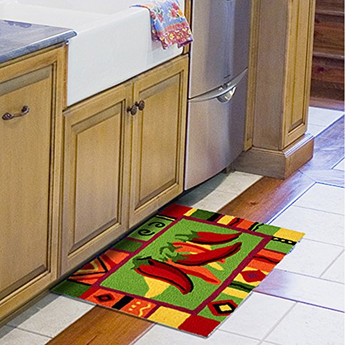 Jellybean Area Accent Rug Red Hot Chili Peppers