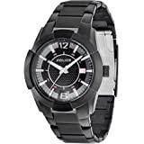 Police Gents Black Steel Bracelet With Black Dial and Silver Markers PL.12547JSB/02M Watch