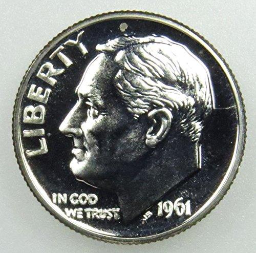 Dime 1964 Us (1961 1962 1963 1964 Silver Roosevelt Dimes 4 GEM PROOF Coins)