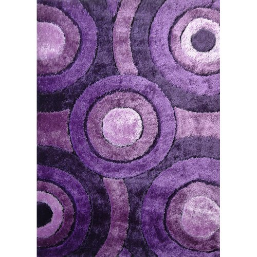 (Rug Factory Plus 110 Living Shag Luxurious Area Rug, 5 by 8-Feet, Lavender)