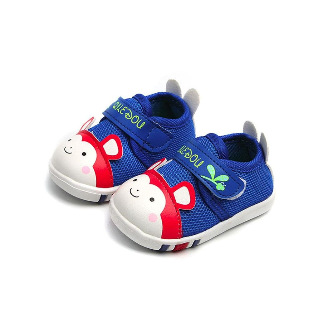 WARMSHOP Baby Fashion Sneakers for Boys Girls Cute Cartoon Letter Print Soft Air Mesh Casual Shoes