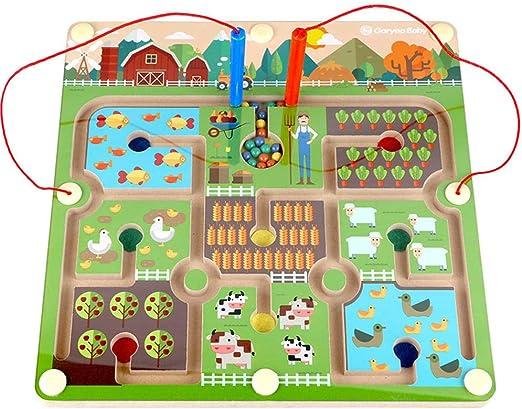 Kawosh Número de Juego magnético Laberinto Cuentas Rompecabezas Juego de Mesa Educativo Juguetes educativos interactivos Habilidades motoras Juguetes de Madera Juguetes de Granja para niños: Amazon.es: Hogar