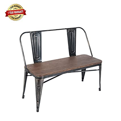 Fine Amazon Com Mieres 1 Table Bench With Wooden Seat Panel And Ocoug Best Dining Table And Chair Ideas Images Ocougorg