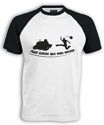Planète motard - T shirt plus rapide que mon ombre - T shirt moto humour - bb7ff4775c8f